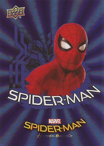 2017 Upper Deck Spider-Man Homecoming Blue Foil