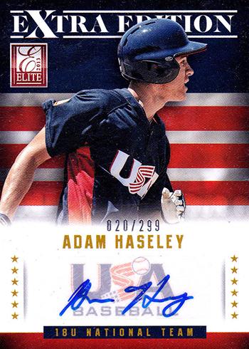 Adam Haseley 2013 Elite Extra Edition Autograph