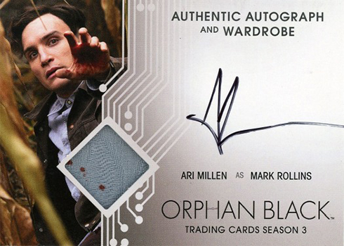 Cryptozoic Orphan Black Season 3 Autograph Wardrobe Ari Millen as Mark Rollins