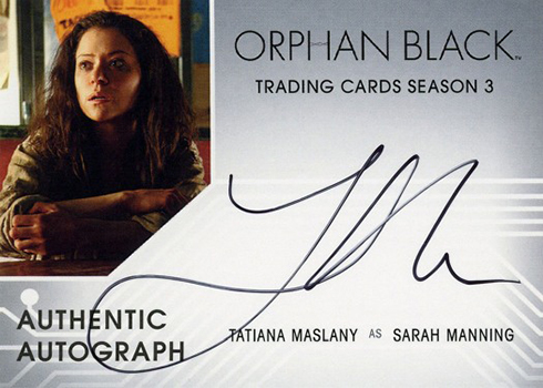Cryptozoic Orphan Black Season 3 Autographs Tatiana Maslany as Sarah Manning