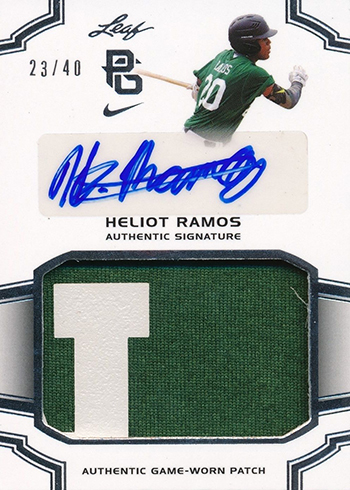 Heliot Ramos 2016 Leaf Perfect Game Autographed Patch