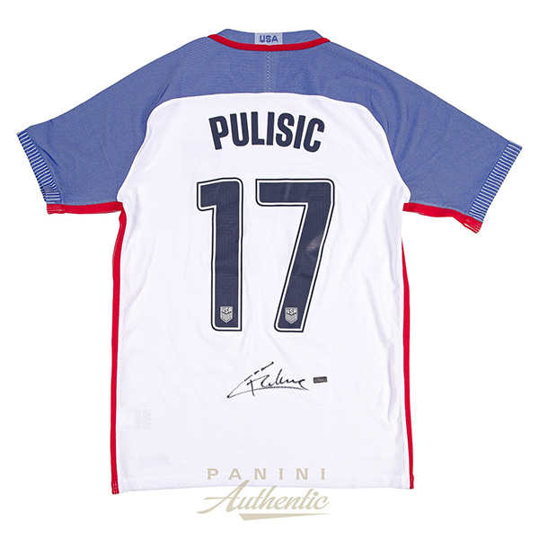 Panini Authentic Christian Pulisic Autographed Jersey