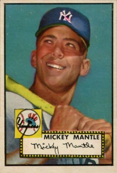 1952 Topps Mickey Mantle Smile