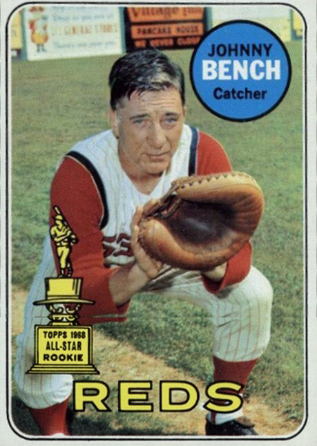 1969 Topps Johnny Bench Old