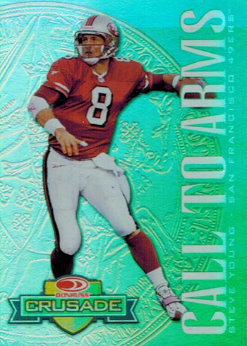 1998 Leaf R& S Crusade 16 Steve Young