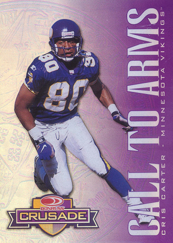 1998 Leaf Rookies and Stars Crusade 30 Cris Carter Purple