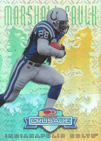 1998 Leaf R&S Crusade 32 Marshall Faulk