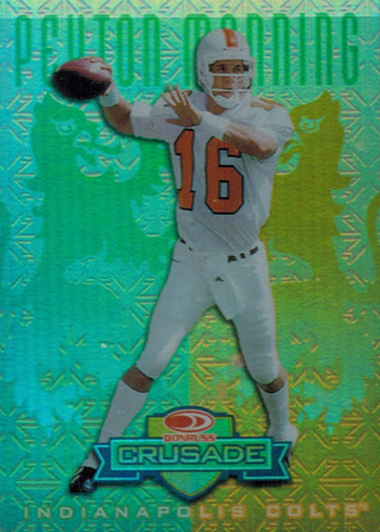 1998 Leaf Rookies and Stars Crusade 66 Peyton Manning