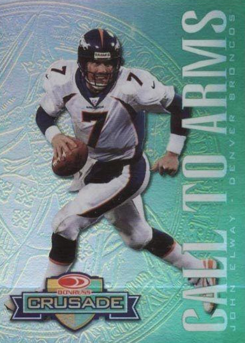 1998 Leaf Rookies and Stars Crusade 9 John Elway