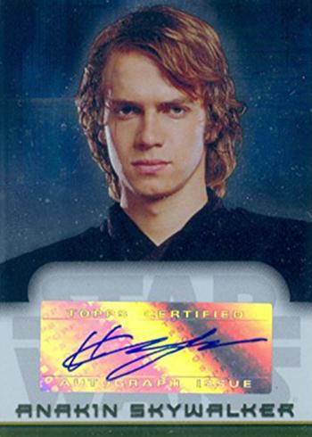 2006 Star Wars Evolution Update Autographs Hayden ChristensenB
