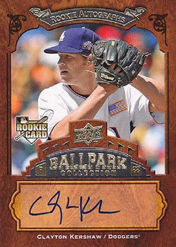 2008 Upper Deck Ballpark Collection Clayton Kershaw
