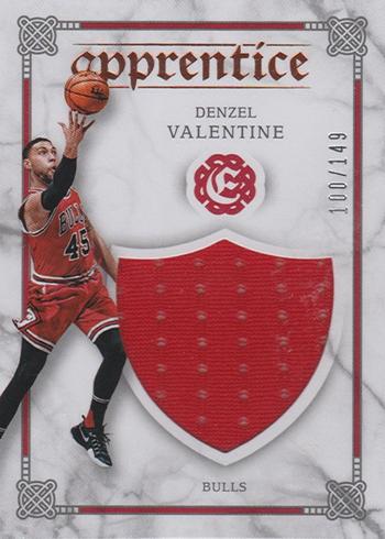 2016-17 Panini Excalibur Basketball Apprentice Shield Denzel Valentine