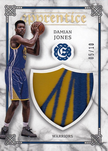 2016-17 Panini Excalibur Basketball Apprentice Shield Prime Damian Jones