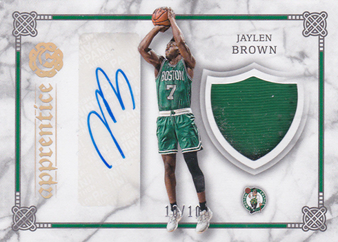 2016-17 Panini Excalibur Basketball Apprentice Shield Signature Holo Gold Jaylen Brown