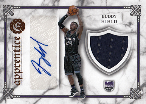 2016-17 Panini Excalibur Basketball Apprentice Signature Shield Buddy Hield