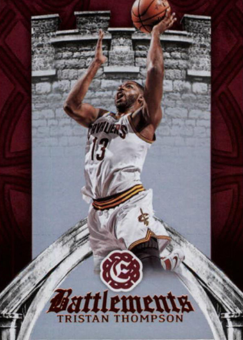 2016-17 Panini Excalibur Basketball Battlements Tristan Thompson