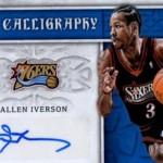 2016-17 Panini Excalibur Basketball Calligraphy Allen Iverson