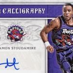 2016-17 Panini Excalibur Basketball Calligraphy Holo Gold Damon Stoudamire
