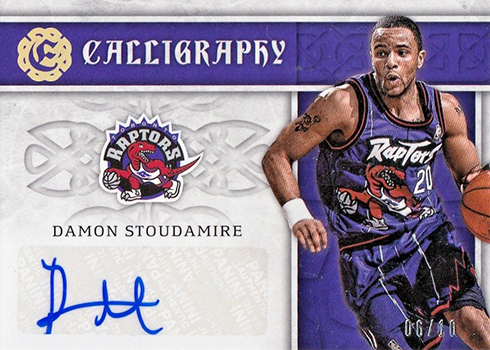 2016-17 Panini Excalibur Basketball Calligraphy Holo Gold Damon Stoudamire