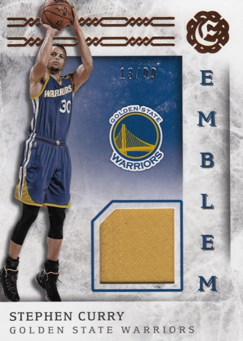 2016-17 Panini Excalibur Basketball Emblem Stephen Curry