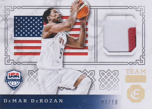 2016-17 Panini Excalibur Basketball Team USA Prime DeMar DeRozan