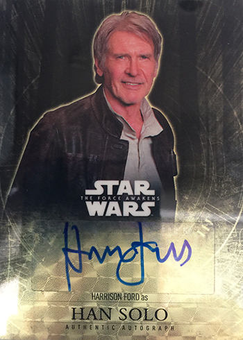 2016 Topps Star Wars The Force Awakens Chrome Superfractor Autograph Harrison Ford