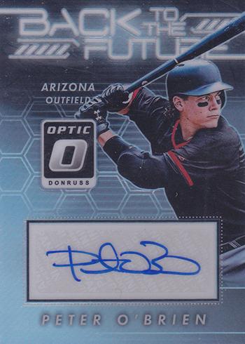 2017 Donruss Optic Baseball Back to the Future Autographs Peter OBrien