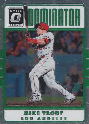 2017 Donruss Optic Baseball Dominator Mike Trout