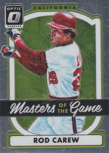 2017 Donruss Optic Baseball Masters of the Game Rod Carew