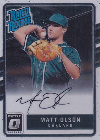 2017 Donruss Optic Baseball Rated Rookie Autographs Matt Olson