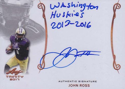 2017 Leaf Trinity Signatures John Ross