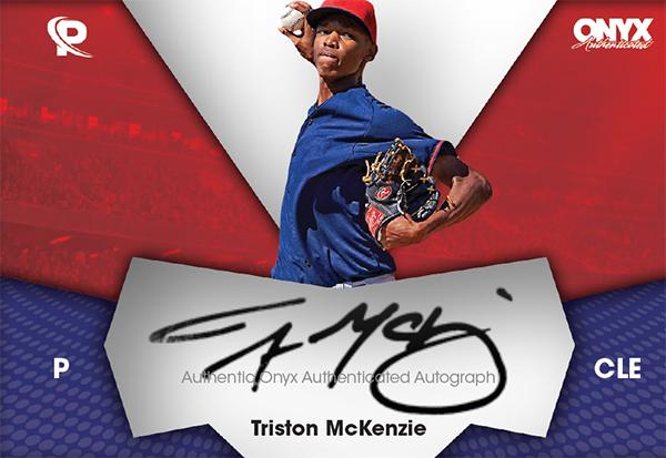 2017 Onyx Platinum Elite Baseball Triston McKenzie Autograph