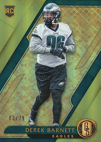 2017 Panini Gold Standard Football Base Derek Barnett RC