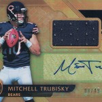 2017 Panini Gold Standard Football Base Rookie Jersey Auto Mitchell Trubisky