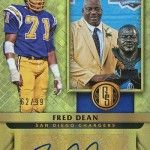2017 Panini Gold Standard Football Gold Jacket Signatures Fred Dean