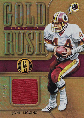2017 Panini Gold Standard Football Gold Rush John Riggins
