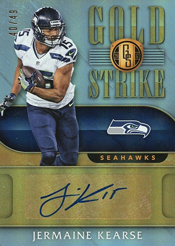 2017 Panini Gold Standard Football Gold Strike Jermain Kearse 49