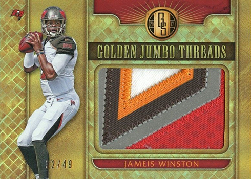 2017 Panini Gold Standard Football Golden Jumbo Threads Jameis Winston 49