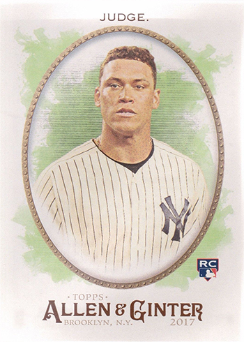 2017 Topps Allen and Ginter Baseball Base Aaron Judge RC