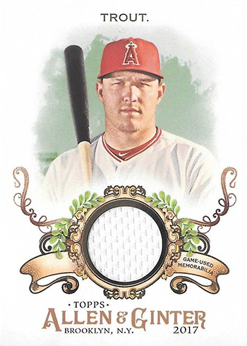 2017 Topps Allen and Ginter Baseball Full Sized Relic B Mike Trout