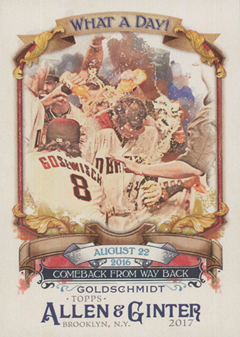 2017 Topps Allen and Ginter Baseball What a Day Paul Goldschmidt
