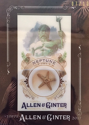 2017 Topps Allen and Ginter Fictional Figures Framed Relics Neptune