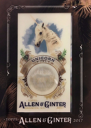 2017 Topps Allen and Ginter Fictional Figures Framed Relics Unicorn Hair