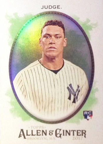 2017 Topps Allen and Ginter Hot Box Foil Aaron Judge