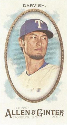 2017 Topps Allen and Ginter Mini Exclusive 354 Yu Darvish