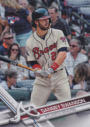 2017 Topps Factory Set Variations 87 Dansby Swanson