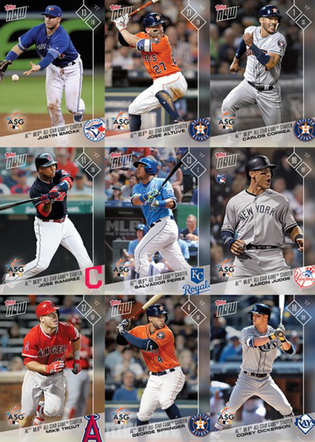 2017 Topps Now American League All-Star Set