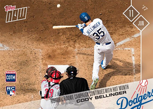 2017 Topps Now Card of the Month M-JUN Cody Bellinger
