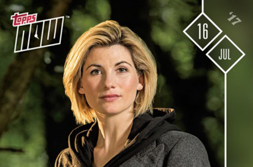 2017 Topps Now Doctor Who 1 Jodie Whittaker FB
