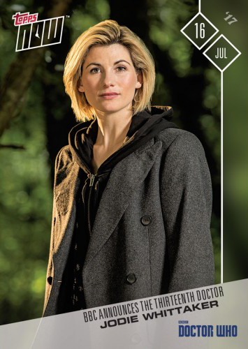 2017 Topps Now Doctor Who 1 Jodie Whittaker